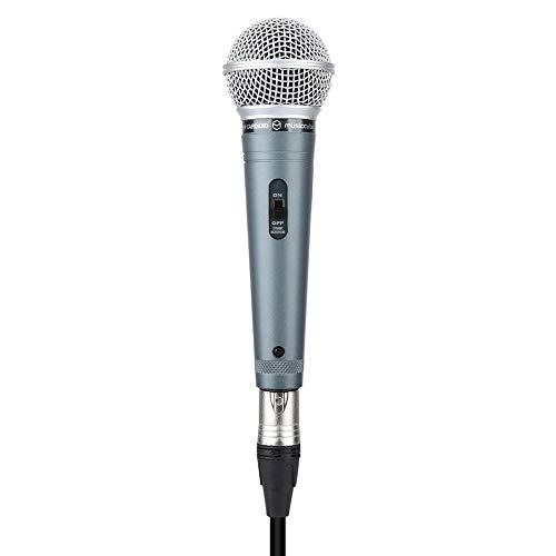 Denash G-10 Handheld Micrófono Profesional con Cable de Voz Clara para Karaoke Vocal Music Performance