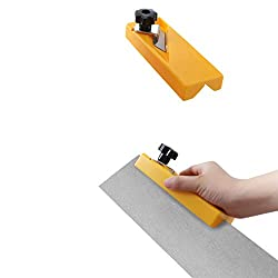 fasloyu Manual Planing Tool,Edge Banding Trimming, Multi-Function Flat Square Edge Chamfer Wood,Plasterboard and Tail Trimmer for Woodworking,Neat Border (B)