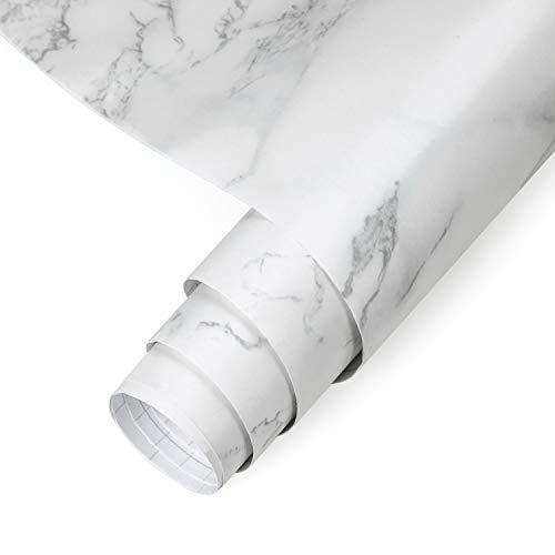 0.61 * 5M Marmor Tapete Möbelfolie Klebefolie Selbstklebend Aufkleber Dekofolie Möbelsticker Wand wasserdicht Folie für Schlafzimmer Küche, Schrank, Tisch(Type D)