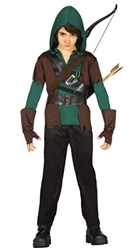 Fancy Me Jungen 4 Stück grün mittelalterlich Bogenschütze Robin Hood Halloween Kostüm Kleid Outfit 5-12 Jahre - Grün, Grün, 10-12 Years