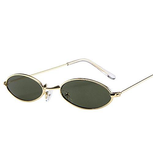 Amuster Small ovale lunettes de soleil Mode Hommes Femmes Retro Petites En  Métal Cadre Lunettes de 5accbda3edaa