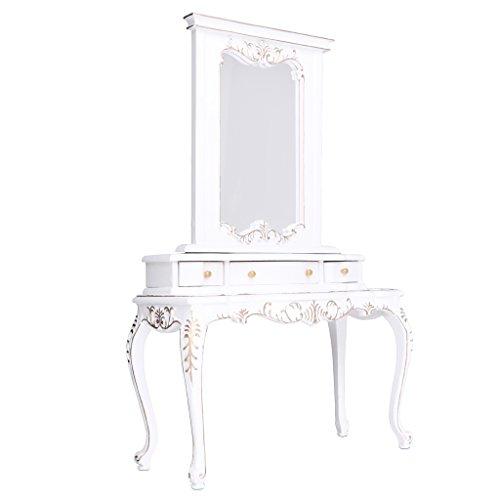 Sharplace Mini Puppenmöbel Schlafzimmer Holz Kommode Schminktisch für 1/6 Puppenhaus Dekoration - Weiß -