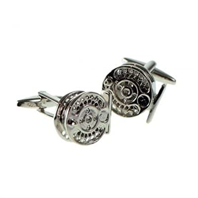 Ashton and Finch Fly Fishing Reel Cufflinks with Gift Box