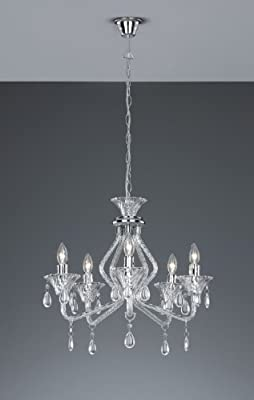 Trio Leuchten Krone in Acryl klar, Behang 110800500