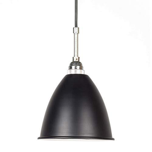 Francisco Segarra - Lampe Industrielle De Plafond Tulipe Noire Mate, Intérieur Blanc - Diana (Douille E14)