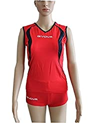 Givova Kit Vol Volley Rouge/Blue Taille 2X S