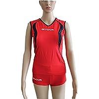 Givova - Traje de voleibol rojo y azul, talla 2XS