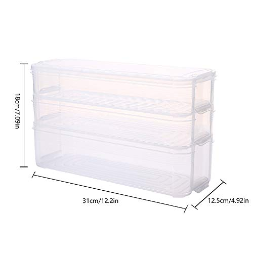 erplätze Kühlschrank Aufbewahrungsbox Frischhaltedose mit Deckel für Küchenschrank Gefrierschrank Schreibtisch Veranstalter ()