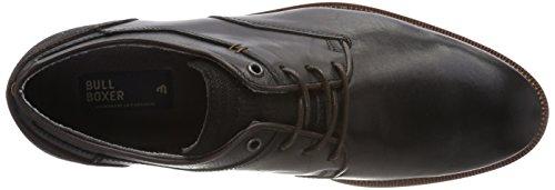 Bullboxer 5935a, Derbys Homme Schwarz (Black)