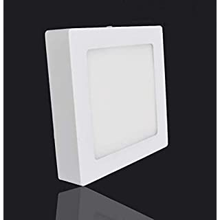 24W Square Led Ceiling Light, Bathroom Lights, Surface Mount LED Ceiling Panel, Ceiling Lighting Fitting for Kitchen Bedroom Hotel Living Room 6000K/Daylight White, AC 86-265V Aluminum Energy Class A+(1 Pack) [Energy Class A+]