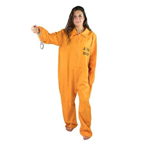 Bodysocks® Insassen Gefangenen Männer Gefängnis Kostüm - Sträfling Kostüm Weiblich