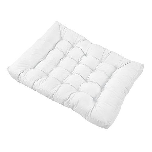 [en.casa] Palettenkissen - 11-teilig - Sitzpolster + Rückenkissen [weiß] Paletten-Sofa In/Outdoor - 5