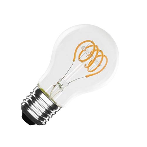 Bombilla LED E27 Regulable Filamento Espiral Classic A60 4W Blanco Cálido 2000K-2500K
