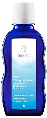 WELEDA Milde Reinigungsmilch, porentiefe Naturkosmetik Gesichtsreinigung für trockene und normale Haut im Gesicht und am Hals, sanfte Reinigung ohne Austrocknen (1 x 100 ml)