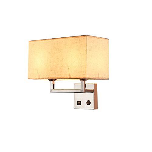Lámpara De Pared Americana Con Conector USB Luces De Pasillo Llevadas Creativas...