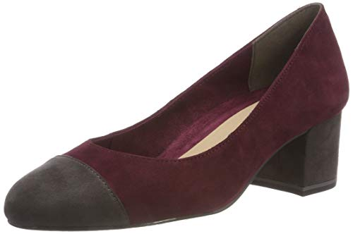 Tamaris Damen 22400-21 Pumps, Rot (Merlot/Anthra. 511), 38 EU