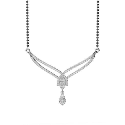Or blanc/or jaune/Platinum-Collier Femme-diamant mangalsutra ims-1786-vsgh