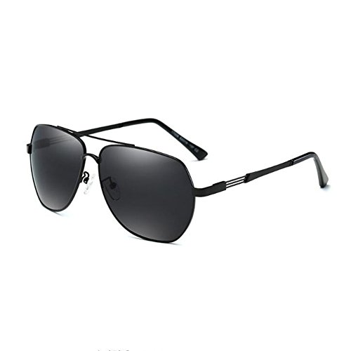 HONEY Polarisierte Sonnenbrille Für Herren Fahrbrille  Leichtgewicht Vakuum-Plating  Voller 400UV Schutz (Farbe : Black/dark gray) - Vakuum-objektiv