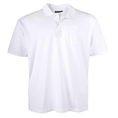 Poloshirt Pique Übergröße weiß Redfield Weiß