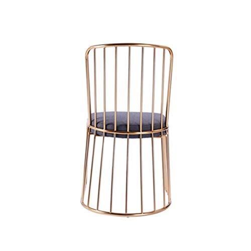 Metall-eitelkeit-bank (Kreativer goldener Metall-Eitelkeits-Schemel, Make-upankleiderhocker aufgefüllte Bank, gepolsterter speisender Stuhl mit Goldmetallrückenlehne für Küche-Schlafzimmer-dekorativen Schemel-Freizeit)