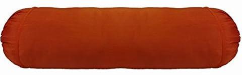 Saffron Poly Silk Removable Case Bolster Cover