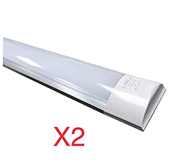 LED-Atomant-Bildschirm, integriertes Rohr T10, 40 W 120 cm, kaltes Weiß 6500 K, staubdicht, entspricht 2 Leuchtstoffröhren oder LED 3300 lm, 2er-Pack