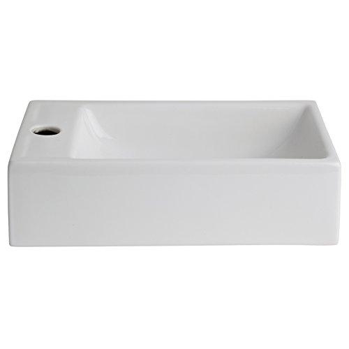 Lave mains rectangle blanc contemporain