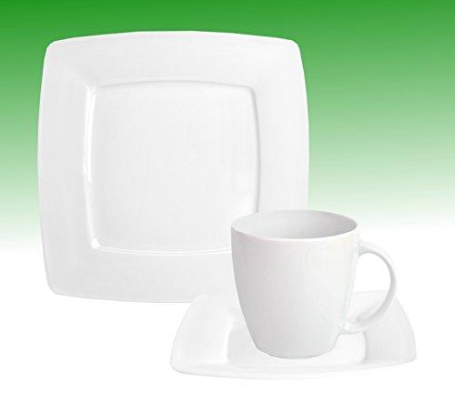 Kaffeeservice Classico 36tlg. für 12 Personen weiß eckig