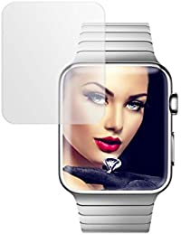 mtb more energy® Protector de pantalla de vidrio templado para Apple Watch 3 (38 mm) - Película protectora Cristal Tempered Glass