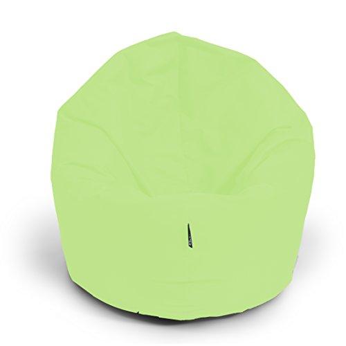 Sitzsack BuBiBag 2-in-1 100cm durchmesser Funktionen mit Füllung Sitzkissen Bodenkissen Kissen Sessel BeanBag Joga 30 Farben (lime)