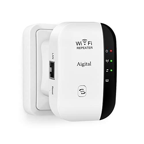 Aigital WiFi Répéteur Extenseur sans Fil 300M Amplificateur de Signal du Point d'accès (AP) Supporte la Norme WiFi-N, 2.4GHz, Antennes Intégrées, Norme IEEE, Interface, RJ45, Protection WPS