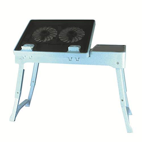 CHENG Computer Klapptisch Einfachen Klappwinkel großer Ventilator Kühltisch (Schwarz) (Farbe : B)