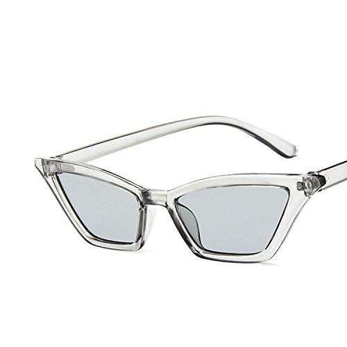 YUHANGH Retro Sonnenbrille Frauen Kleine Lila Rot Vintage Retro Sonnenbrille Rechteck Weibliche Gelbe Eyewear