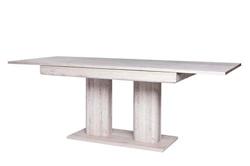 Inter Trade 1831 Table de Salle à Manger Extensible, Bois, Chêne Sorrento, 140 x 90 x 79,5 cm