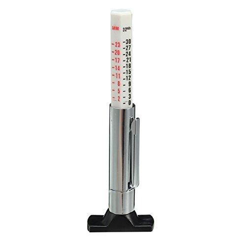 Forspero 0-25mm Reifenaufzug Tiefe Gauge Nylon Slide Car Reifen Attrition Deep Test Ruler Measure Tool