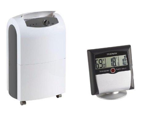 Remko ETF 320 Bautrockner Luftentfeuchter + TFA Digitales Thermo Hygrometer 30.5011, Anzeige von Temperatur und Luftfeuchtigkeit zur Raumklima-Überwachung, Alarmfunktion bei Schimmelgefahr
