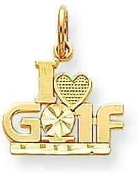 10 k Golf-Charm höherer Goldgrad als 9 Karat Gold-JewelryWeb