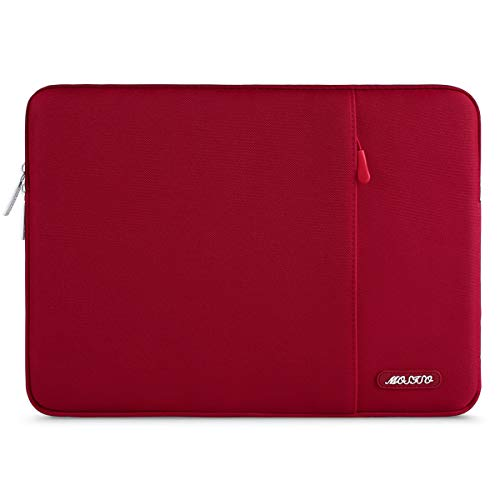 MOSISO Laptophülle Kompatibel mit 13-13,3 Zoll MacBook Air, MacBook Pro, Notebook Computer, Polyester Wasserabweisend Vertikale Stil Sleeve Hülle Schutzhülle Laptoptasche Notebooktasche, Rot