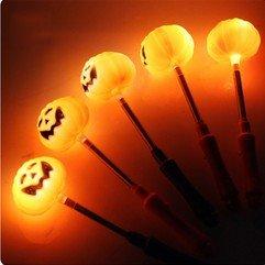 Vi.yo Vi.yo LED Kürbis Schütteln Glühender Stick Frühling Blitz Lampe Bar Halloween Blinken Blinkende Kostüm Zubehör Party (Blitzlicht Kürbis Led)