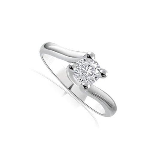 0.25ct H/SI1 Anello di fidanzamento Solitario da donna in oro bianco 18kt con diamante taglio (0.25 Ct Anello Di Fidanzamento Anello Di Fidanzamento)