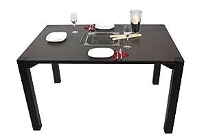"""Grilltisch """"Oblong"""" mit integriertem Edelstahlgrill und Abdeckung - Essen am Holzkohlegrill wie beim Raclette oder Fondue, mit Freuden oder der Familie"""