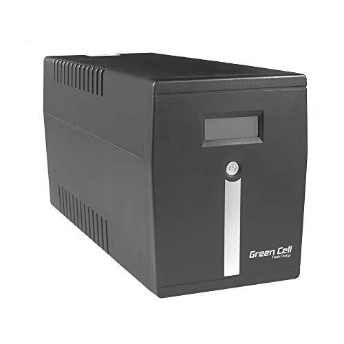 Green Cell UPS USV Unterbrechungsfreie Stromversorgung 2000VA (1200W) 230V 2000VA-3000VA Approximated Sine Wave USB/RJ45 4X Schuko
