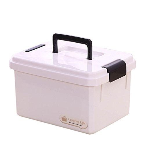 Winni43Julian Hausapotheke Box, 6.5L Mehrere Schichten Tragbar Medizinbox mit Getrennten Fächer Medikamentenbox, Tragbare Medizinische Box