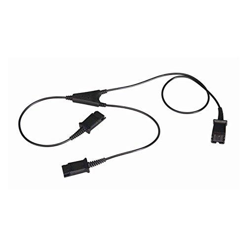 Cablematic Cable compatible con Plantronics QD a 2 minijack 3.5mm