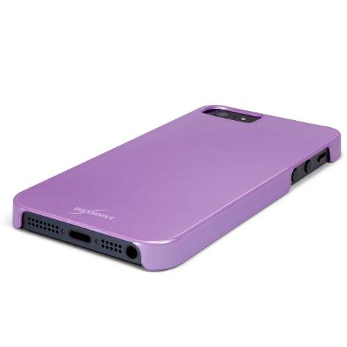 BoxWave Coque rigide pour iPhone 5-Perle-Mat Lustré Protection Ultra-fine Perle avec finition douce légère et discrète Anti-dérapante pour iPhone 5 Motif pour iPhone 5 (Violet)