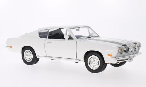 Plymouth Barracuda, blanche/noire, 1969, voiture miniature, Miniature déjà montée, Lucky - Cast 1:18 | Bonne Conception Qualité