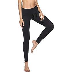 OverDose Soldes Legging Femmes Sport Taille Élastique Classique Pantalon de Yoga Pantalon Skinny Slim Jogging Running Pilates Cyclisme Trousers