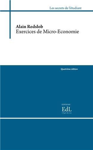 Exercices de micro-économie par Alain Redslob