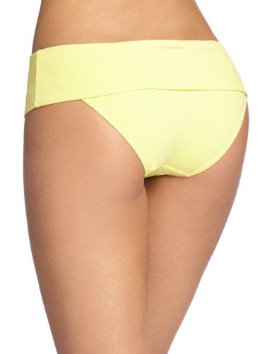 Calvin Klein Damen Bikinioberteil Foldover Full Classic Gelb - Jaune (Daisy Yellow)
