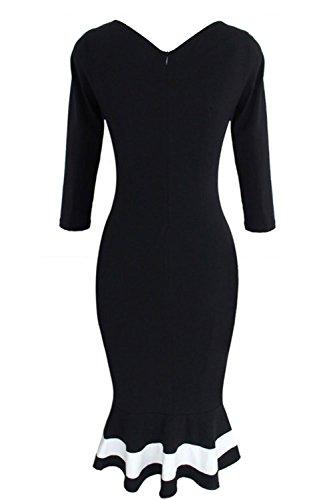 Pinkyee Damen Kleid Black3